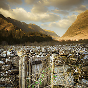 The gate, abandoned sheep pens, Glen Coe