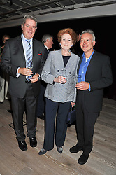 Left to right, ?, LADY ELIZABETH ANSON and NICKOLAS GRACE at a party to celebrate the publication of her  autobiography - The World According to Joan, held at the British Film Institute, South Bank, London SE1 on 8th September 2011.