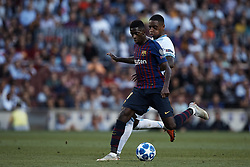 September 18, 2018 - Barcelona, Barcelona, Spain - Ousmane Dembele (L) of FC Barcelona competes for the ball with Pablo Rosario of PSV Eindhoven during the UEFA Champions League group B match between FC Barcelona and PSV Eindhoven at Camp Nou on September 18, 2018 in Barcelona, Spain  (Credit Image: © David Aliaga/NurPhoto/ZUMA Press)