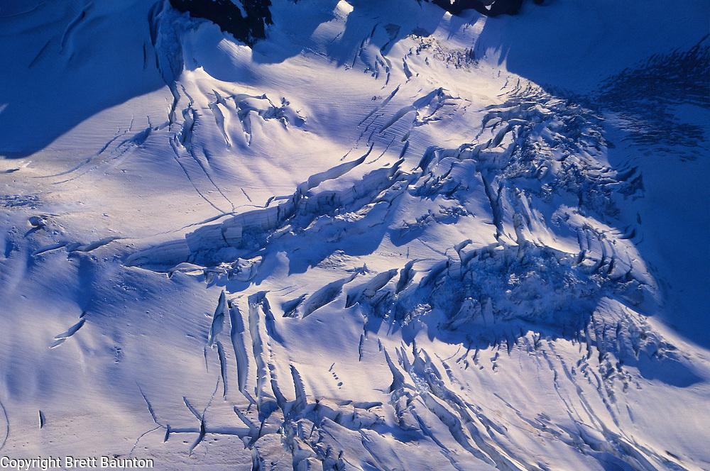 Mt. Baker, Aerial, Glacier, Crevasse