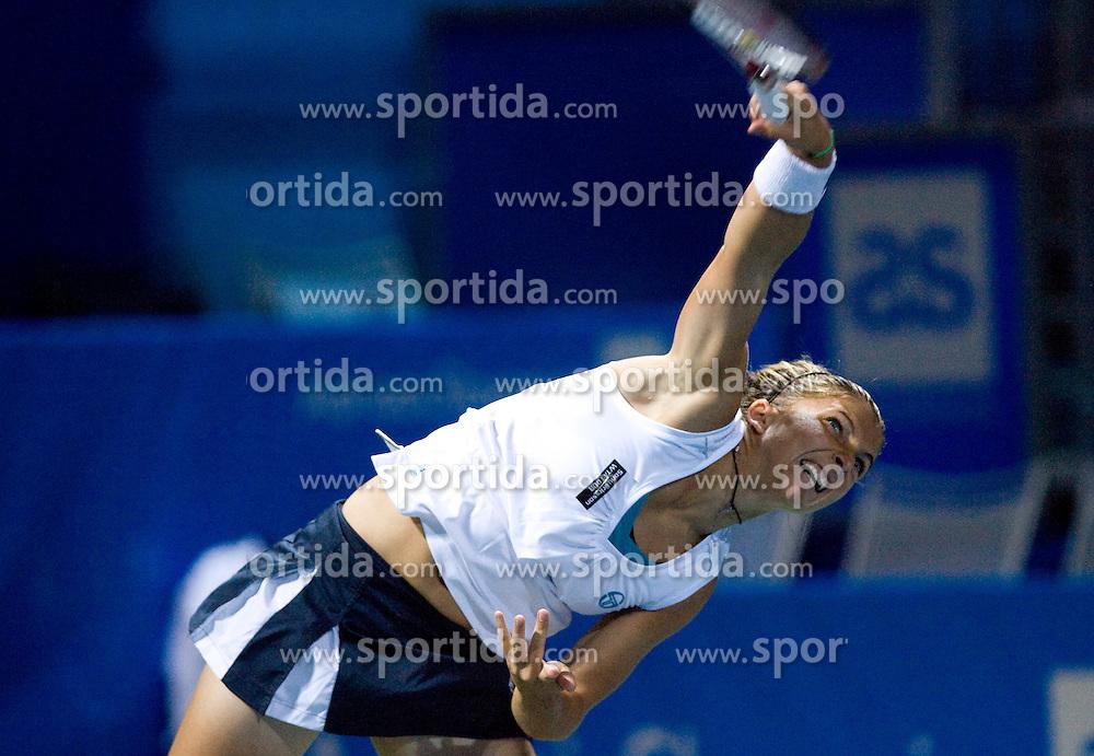 Sara Errani of Italy at 1st Round of Banka Koper Slovenia Open WTA Tour tennis tournament, on July 21 2009, in Portoroz / Portorose, Slovenia. (Photo by Vid Ponikvar / Sportida)