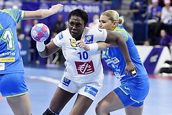 France player Grace Zaadi during the Women's european handball chanmpionship preliminary round, Slovenia vs France. Nancy, Fance -02/12/2018//POLEMILE_01POL20181202NAN024/Credit:POL EMILE / SIPA/SIPA/1812021731