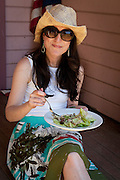 Kerry Newberry enjoying IPNC Lunch at Big Table farm, Gaston, Willamette Valley, Oregon