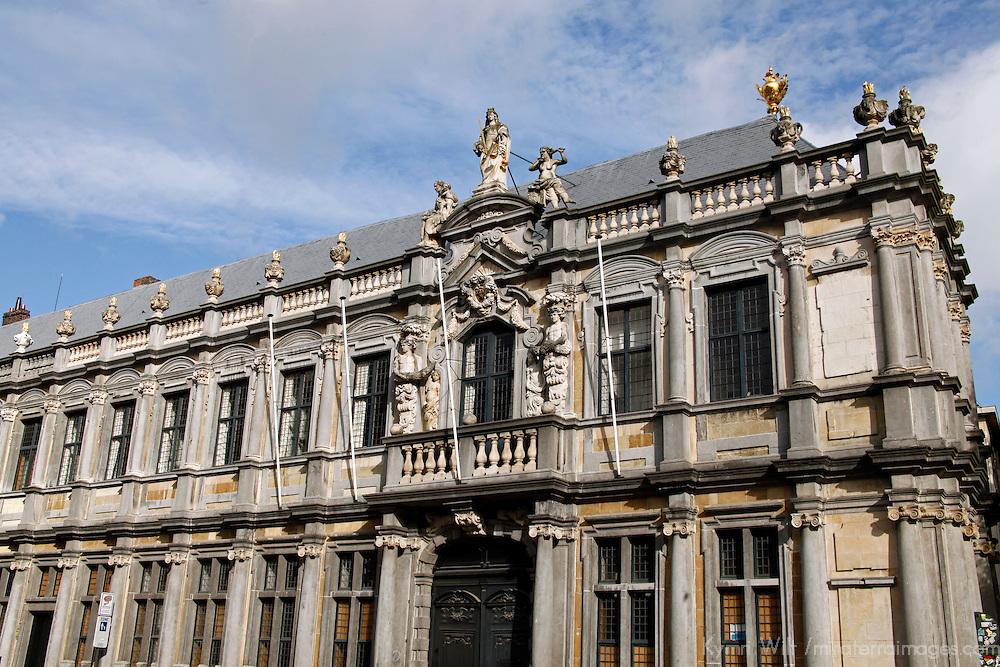 Europe, Belgium, Brugges. Bishop's Palace in Burg Square.
