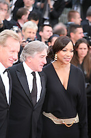 James Woods, Robert De Niro and Grace Hightower at the gala screening Madagascar 3: Europe's Most Wanted at the 65th Cannes Film Festival. On Friday 18th May 2012 in Cannes Film Festival, France.