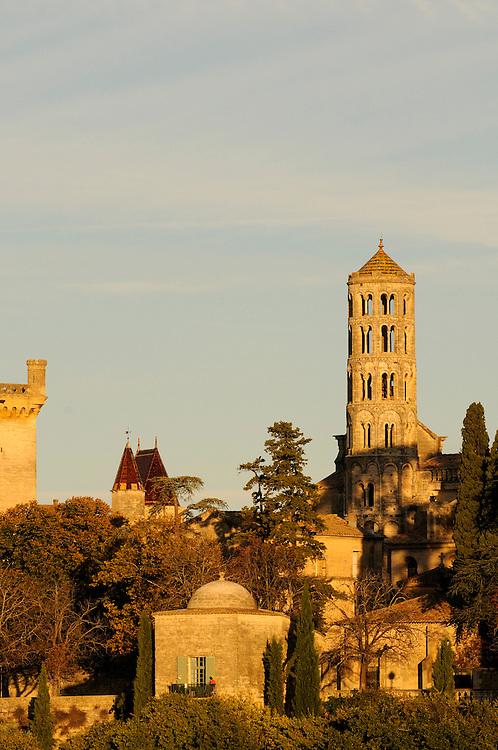 France, Languedoc Roussillon, Gard (30), Uzège, Uzès, tour Fenestrelle, le Duché, pavillon Racine