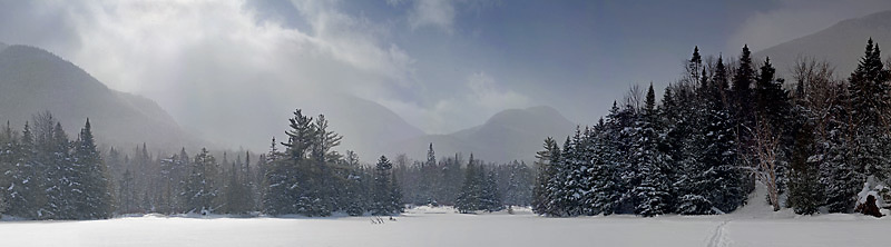 Marcy Dam in Winter, Adirondack Park
