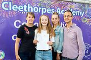"23 Aug 2018: Cleethorpes Academy GCSE results<br /> Amelia Hooper who got 9 GCSE's including a 9 in Maths,  five 8's and an A * in textiles.<br /> ""I'm going to Sixth Form. Had to work most nights. Lots of support from staff especially a couple of subjects I struggled with.""<br /> Pictured with (l-r) mum Jo, sister Elisha and dad Tony.<br /> Picture: Sean Spencer/Hull News & Pictures Ltd<br /> 01482 210267/07976 433960<br /> www.hullnews.co.uk         sean@hullnews.co.uk"