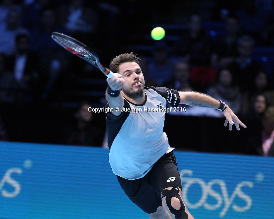 STAN WAWRINKA (SUI), ATP World Tour Finals, O2 Arena, London, England.<br /> <br /> Tennis - ATP World Tour Finals 2016 - ATP -  O2 Arena - London -  - Great Britain  - 16 November 2016. <br /> &copy; Juergen Hasenkopf/Grieves