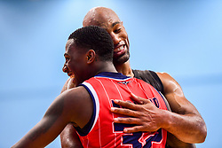 Jalan McCloud of Bristol Flyers and Fabulous Flournoy of Newcastle Eagles - Photo mandatory by-line: Ryan Hiscott/JMP - 03/11/2018 - BASKETBALL - SGS Wise Arena - Bristol, England - Bristol Flyers v Newcastle Eagles - British Basketball League Championship