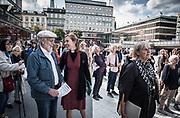 Manifesation på Sergels torg i Stockholm för fred och mot kärnvapen och till stöd för FN:s kärnvapenförbud