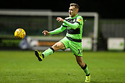 Forest Green Rovers George Williams(11) during the EFL Trophy group stage match between Forest Green Rovers and U21 Arsenal at the New Lawn, Forest Green, United Kingdom on 7 November 2018.