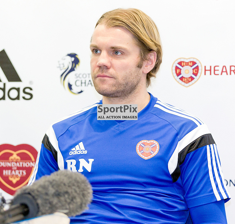 Heart of Midlothian Football Club Media Conference 31 December 2014; Heart's manager Robbie Neilson during the Heart of Midlothian Football Club Media conference at Hearts Riccarton Training Ground, Edinburgh to preview the club's Scottish Championship match against Hibernian at Tynecastle on Saturday 3 January 2015;