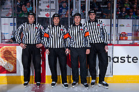 REGINA, SK - MAY 19: Ice officials at the Brandt Centre on May 19, 2018 in Regina, Canada. (Photo by Marissa Baecker/CHL Images)