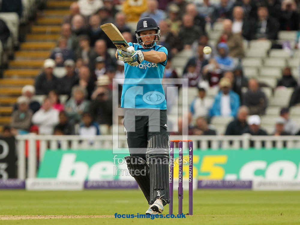 Jos Buttler of England plays a shot during the Royal London One Day Series match at Edgbaston, Birmingham<br /> Picture by Tom Smith/Focus Images Ltd 07545141164<br /> 03/06/2014