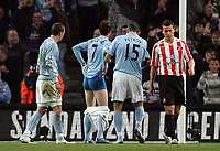 Photo: Paul Thomas/Sportsbeat Images.<br /> Manchester City v Sunderland. The FA Barclays Premiership. 05/11/2007.<br /> <br /> Stephen Ireland (7) of City celebrates his goal by pulling down his pants.