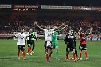 JOIE GUINGAMP - 24.01.2015 - Guingamp / Lorient - 22eme journee de Ligue1<br />Photo : Vincent Michel / Icon Sport