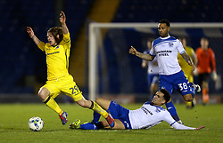 Kean Bryan of Bury fouls Luke James of Bristol Rovers - Mandatory by-line: Matt McNulty/JMP - 14/03/2017 - FOOTBALL - Gigg Lane - Bury, England - Bury v Bristol Rovers - Sky Bet League One