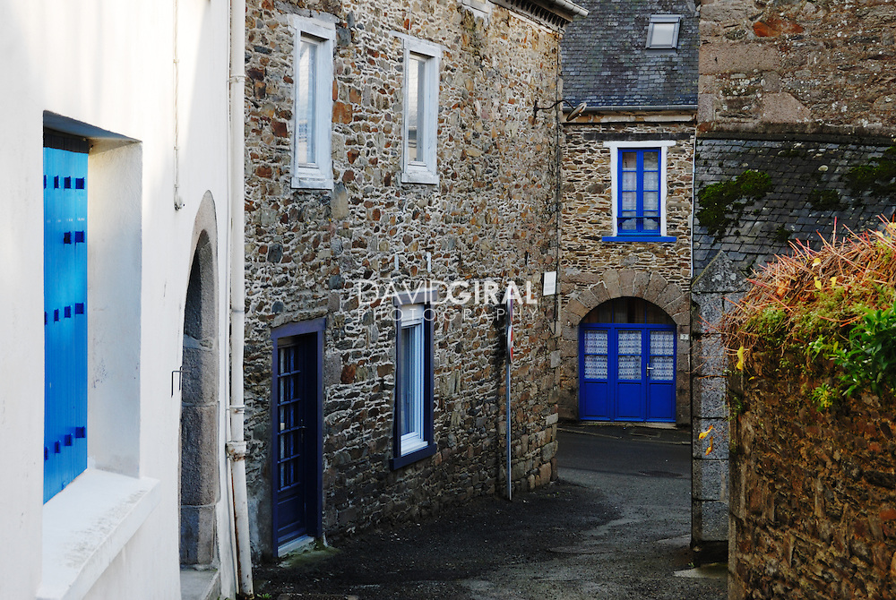 An old street of La Roche Derrien, Brittany, France