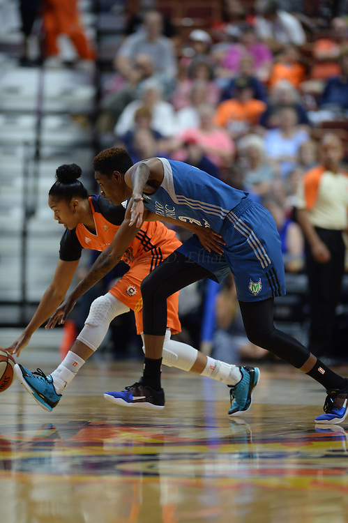 7/7/16 :: SPORTS :: GRIFFEN :: Connecticut Minnesota in WNBA action Thursday, July 7, 2016 at Mohegan Sun Arena. The Sun came back to take a 93-89 overtime win over the defending WNBA champion Lynx. (Sean D. Elliot/The Day)