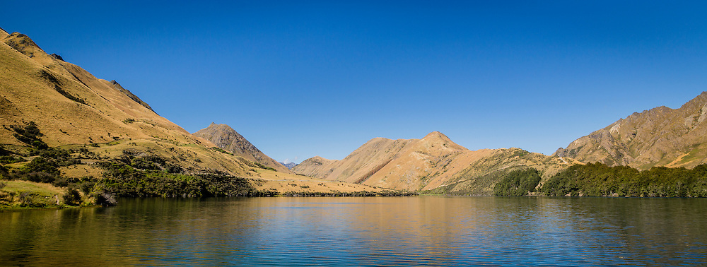 Moke Lake panoramic, New Zealand.