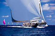 Twizzle and Hanuman sailing in the Caribbean Superyacht Regatta and Rendezvous, race 1.