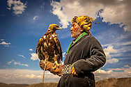 The Eagle Hunters of Mongolia. In the Altai Mountains of Mongolia, Kazakh tribes still hunt fox and wolf with golden eagles. The Kazakh are a semi-nomadic people who raise sheep and yaks for their main food source.<br />