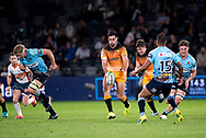 SYDNEY, AUSTRALIA - MAY 25: Jaguares player Tomas Cubelli (9) kicks the ball at week 15 of Super Rugby between NSW Waratahs and Jaguares on May 25, 2019 at Western Sydney Stadium in NSW, Australia. (Photo by Speed Media/Icon Sportswire)