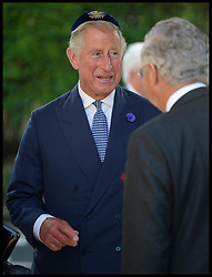 Prince Charles wearing a yarmulke arrives for the Installation  of the New Chief UK Rabbi Ephraim Mirvis St John's Wood Synagogue, London, United Kingdom. Sunday, 1st September 2013. Picture by Andrew Parsons / i-Images
