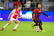 Flamengo midfielder Everton Ribeiro (7) in action during a Florida Cup match against Flamengo at Orlando City Stadium on Jan. 10, 2019 in Orlando, Florida. <br /> Flamengo won in penalties 4-3.<br /> <br /> ©2019 Scott A. Miller