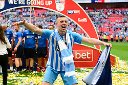 Free to use courtesy of Sky Bet. Jordan Shipley of Sky Bet celebrates after winning the Sky Bet League Two play off final against Exeter City - Mandatory by-line: Dougie Allward/JMP - 28/05/2018 - FOOTBALL - Wembley Stadium - London, England - Coventry City v Exeter City - Sky Bet League Two Play-off Final