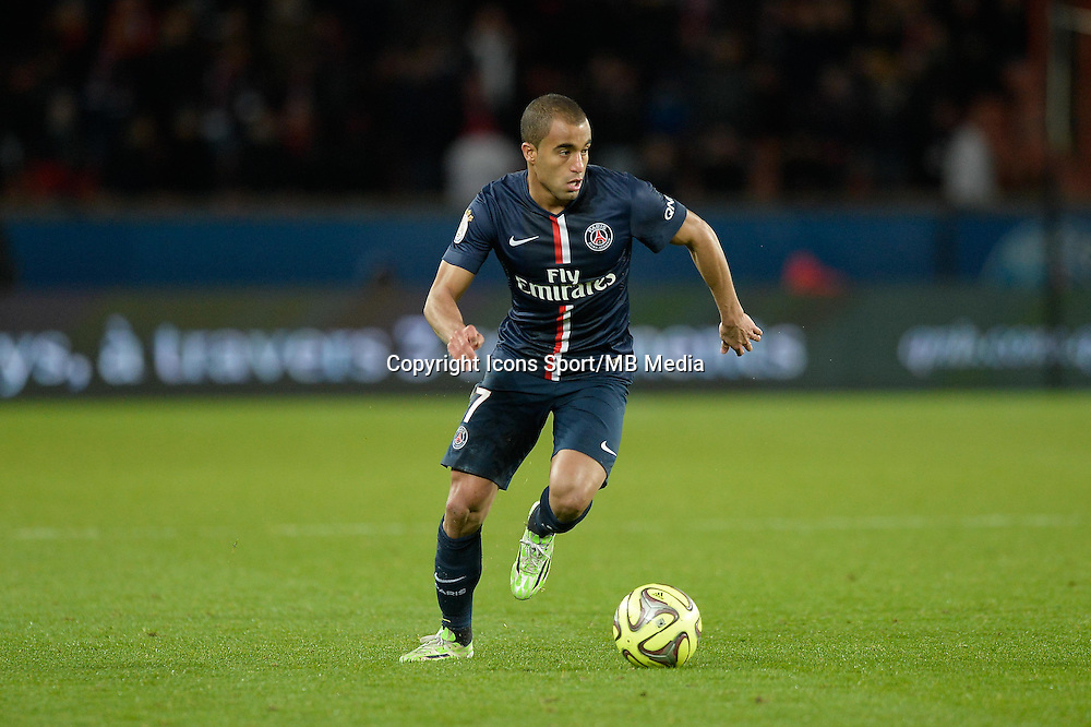 LUCAS - 20.12.2014 - Paris Saint Germain / Montpellier - 17eme journee de Ligue 1 -<br />Photo : Aurelien Meunier / Icon Sport