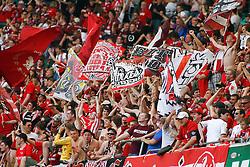 07.05.2011, Volkswagen Arena, Wolfsburg, GER, 1.FBL, VfL Wolfsburg vs 1.FC Kaiserslautern, im Bild jubelnde Kaiserslauternde Fans .EXPA Pictures © 2011, PhotoCredit: EXPA/ nph/  Schrader       ****** out of GER / SWE / CRO  / BEL ******