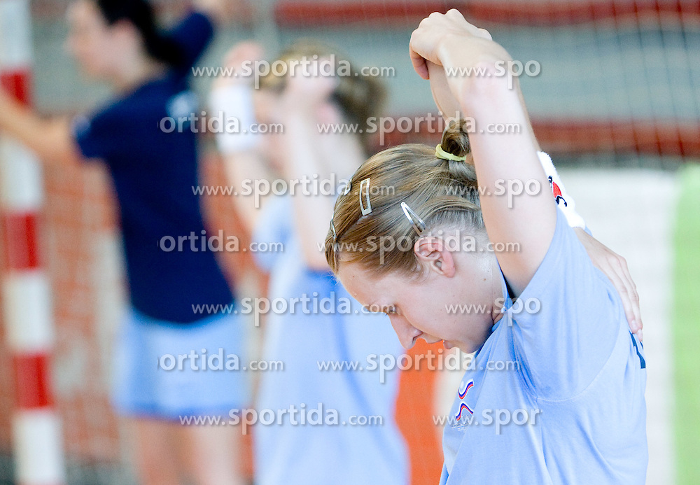 Nusa Skutnik at practice of Slovenian Handball Women National Team, on June 3, 2009, in Arena Kodeljevo, Ljubljana, Slovenia. (Photo by Vid Ponikvar / Sportida)