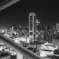 Downtown Dallas as seen from the world-famous Dallas landmark, Reunion Tower
