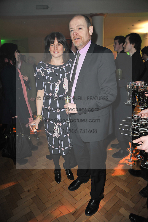 MARK THOMPSON and his wife JANE at the press night of the new Andrew Lloyd Webber  musical 'The Wizard of Oz' at The London Palladium, Argylle Street, London on 1st March 2011 followed by an aftershow party at One Marylebone, London NW1