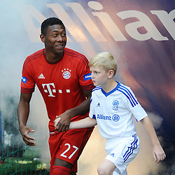 11.07.2015, Allianz Arena, M&uuml;nchen, GER, 1. FBL, FC Bayern Muenchen, Teampr&auml;sentation, im Bild David Alaba (FC Bayern Muenchen) bei der Allianz FC Bayern Team Presentation in der Allianz-Arena Muenchen, 11.07.2015, Foto: Stuetzle/ Eibner-Pressefoto // during the Teampresentation at the Allianz Arena in M&uuml;nchen, Germany on 2015/07/11. EXPA Pictures &copy; 2015, PhotoCredit: EXPA/ Eibner-Pressefoto/ Stuetzle<br /> <br /> *****ATTENTION - OUT of GER*****