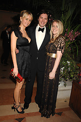 Left to right, EMMA PARKER-BOWLES and HARRY & LAURA LOPES she is the daughter of HRH The Duchess of Cornwall at The Diner Des Tsars in aid of Unicef to celebrate the launch of Quintessentially Wine held at the Guildhall, London EC2 on 29th March 2007.<br />