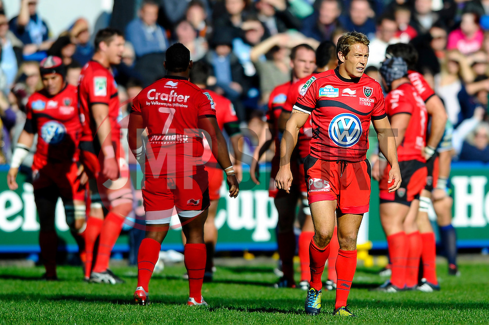 Toulon Fly-Half (#10) Jonny Wilkinson looks on during the first half of the match - Photo mandatory by-line: Rogan Thomson/JMP - Tel: Mobile: 07966 386802 21/10/2012 - SPORT - RUGBY - Cardiff Arms Park - Cardiff. Cardiff Blues v Toulon (RC Toulonnais) - Heineken Cup Round 2