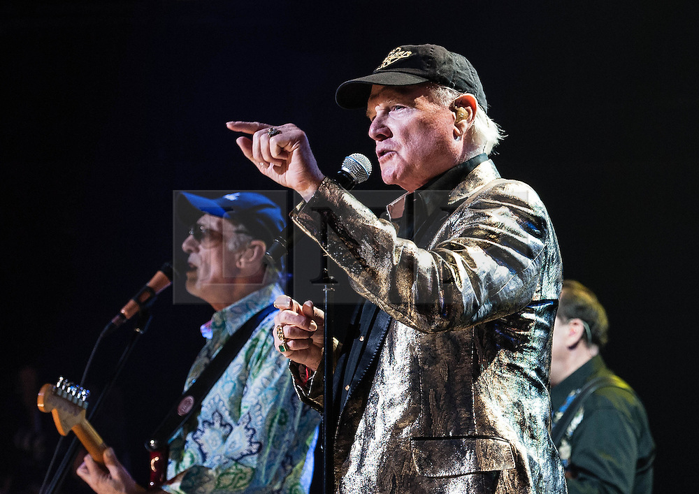 © Licensed to London News Pictures. 27/09/2012. London, UK. Dave Marks (left) and Mike Love (right) of The Beach Boys performing live at The Royal Albert Hall, London, as part of their 50th Anniversary Tour.  It is reported that this is the final tour that Love, Wilson and Jardine will play together as The Beach Boys - with Love planning on continuing the band with different band members. Photo credit : Richard Isaac/LNP
