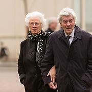 NLD/Utrecht/20140215 - Herdenkingsdienst Els Borst in de Domkerk , Ruud Lubbers en partner Ria Hoogenwegen