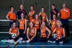 22-09-2017 NED: Portret zitvolleybalsters Oranje 2017-2018, Leersum<br /> Nederland bereidt zich voor op het komende EK zitvolleybal / Team 2017 en begeleiding