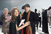 TRICIA JONES; RON ARAD, Yohji Yamamoto exhibition opening. V & A Museum. London. 10 March 2011. -DO NOT ARCHIVE-© Copyright Photograph by Dafydd Jones. 248 Clapham Rd. London SW9 0PZ. Tel 0207 820 0771. www.dafjones.com.