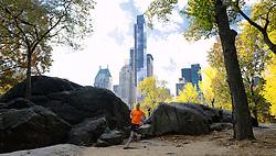 02-11-2013 ALGEMEEN: BVDGF NY MARATHON: NEW YORK <br /> Parcours verkenning en laatste training in het Central Park / Laurens<br /> ©2013-FotoHoogendoorn.nl