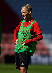 SOUTHAMPTON, ENGLAND - Thursday, April 5, 2018: Wales' Jessica Fishlock during a training session at St. Mary's Stadium ahead of the FIFA Women's World Cup 2019 Qualifying Round Group 1 match against England. (Pic by David Rawcliffe/Propaganda)