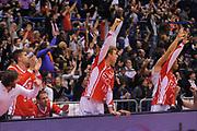 DESCRIZIONE : Milano Lega A 2011-12 EA7 Emporio Armani Milano Montepaschi Siena<br /> GIOCATORE : panchina Milano<br /> CATEGORIA : Ritratto Esultanza<br /> SQUADRA : EA7 Emporio Armani Milano<br /> EVENTO : Campionato Lega A 2011-2012<br /> GARA : EA7 Emporio Armani Milano Montepaschi Siena<br /> DATA : 13/11/2011<br /> SPORT : Pallacanestro<br /> AUTORE : Agenzia Ciamillo-Castoria/A.Dealberto<br /> Galleria : Lega Basket A 2011-2012<br /> Fotonotizia : Milano Lega A 2011-12 EA7 Emporio Armani Milano Montepaschi Siena<br /> Predefinita :