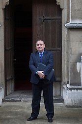 © licensed to London News Pictures. London, UK 13/06/2012.  Leader of SNP, Alex Salmond arriving to Leveson inquiry, this morning (13/06/12). Photo credit: Tolga Akmen/LNP