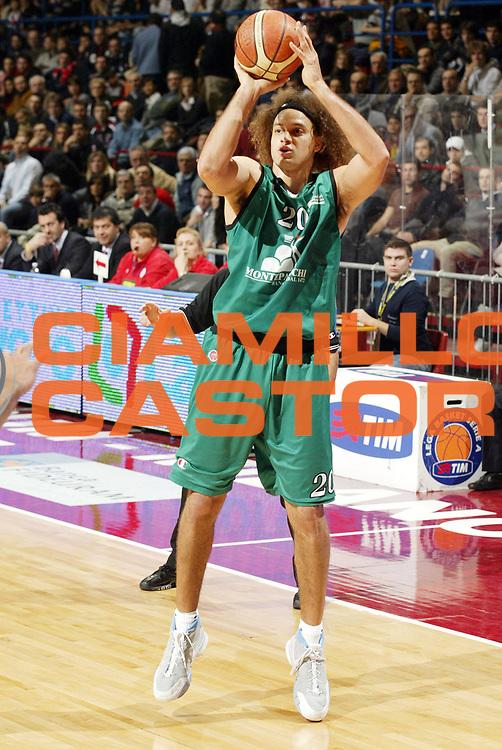 DESCRIZIONE : Milano Lega A1 2006-07 Armani Jeans Milano Montepaschi Siena<br /> GIOCATORE : Stonerook<br /> SQUADRA : Montepaschi Siena<br /> EVENTO : Campionato Lega A1 2006-2007 <br /> GARA : Armani Jeans Milano Montepaschi Siena<br /> DATA : 07/01/2007 <br /> CATEGORIA : Tiro<br /> SPORT : Pallacanestro <br /> AUTORE : Agenzia Ciamillo-Castoria/G.Cottini