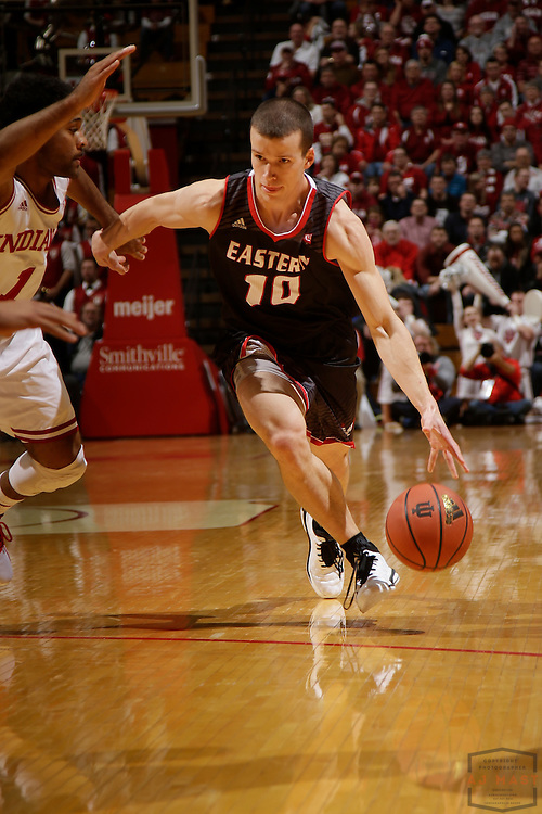 Eastern Washington guard Parker Kelly (10) as Eastern Washington played Indiana in an NCAA college basketball game in Bloomington, Ind., Monday, Nov. 24, 2014. (AJ Mast)