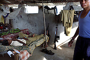 A daily life scene shows Salwa Judam SPO (special police officer) militia in their guard tower within the protected compound of a police station in Errabore. The SPO's are paid Rs1250 (18 Euro) a month but complain that the Naxalites are better equipped and trained than them, many feel the naxalites are winning the war